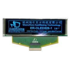 2.8 inch OLED Modules 256x64 Graphic Display SSD1322 Blue on Black ER-OLED028-1B